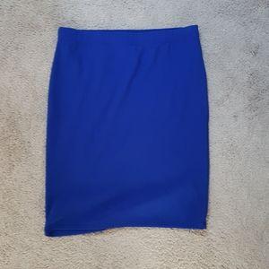 Forever 21 royal blue skirt